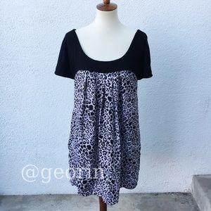 Michael Kors Animal Print Tunic Dress